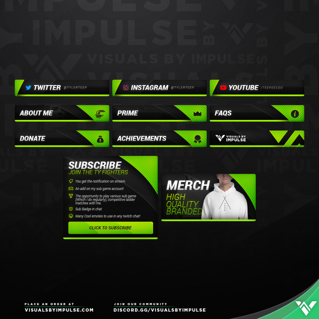 OpTic Tyler TeeP Twitch Panels