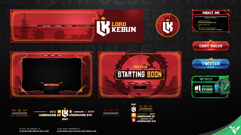 Lord Kebun Custom Twitch Overlays