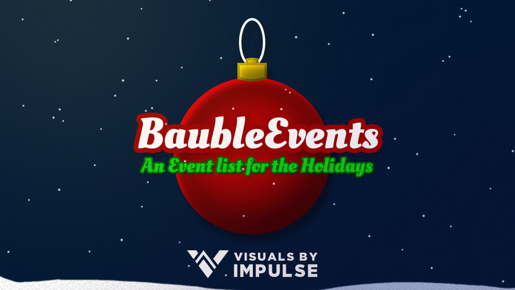 Bauble Holiday Event List