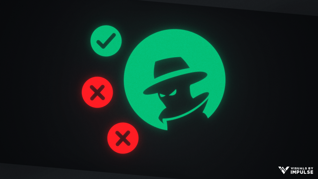 Green Circle with Shadowy Figure Silhouette
