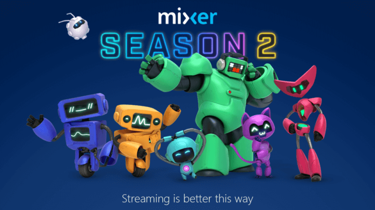colorful goofy robots announce mixer season 2