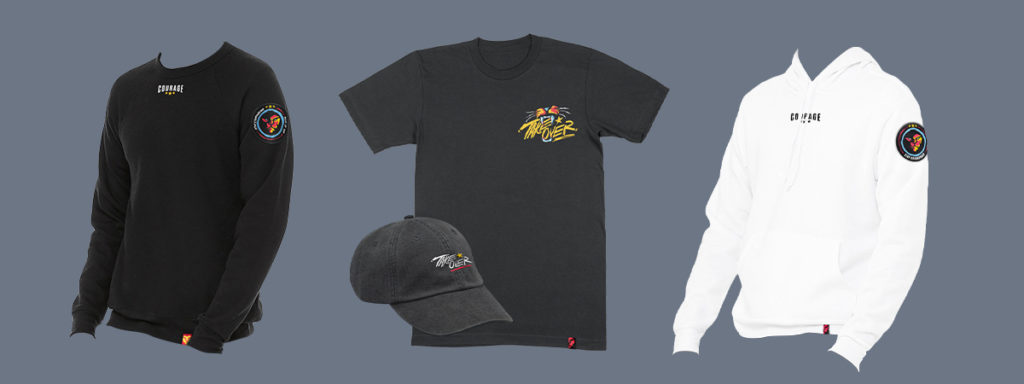 CouRage Season 2 Merch line tshirts hats and shirts