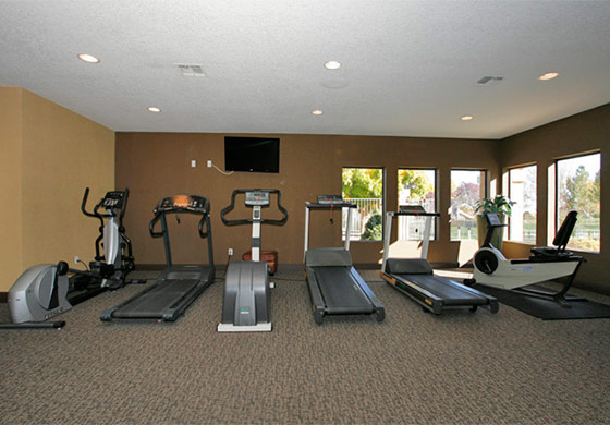 Fitness center inside our Reno apartments
