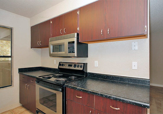 Reno apartments offering modern kitchens