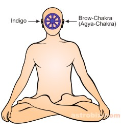 Indigo Color therapy - brow chakra