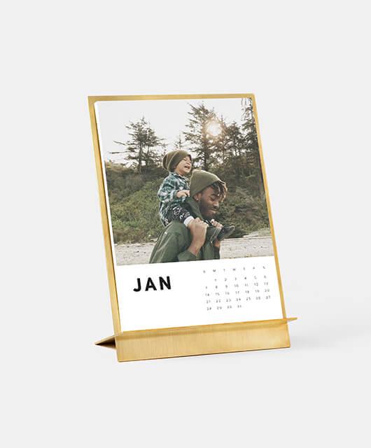 Brass Easel Calendar
