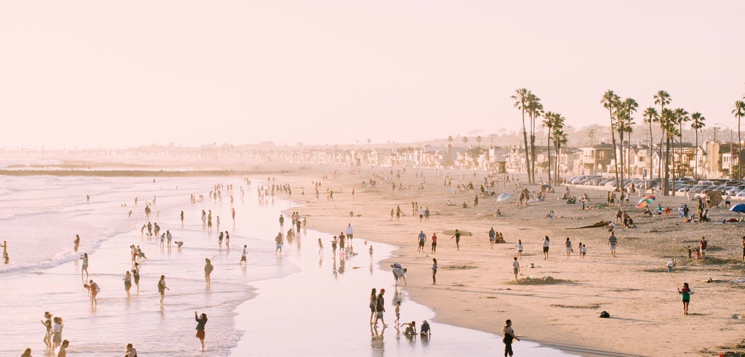 Photo of crowded beach
