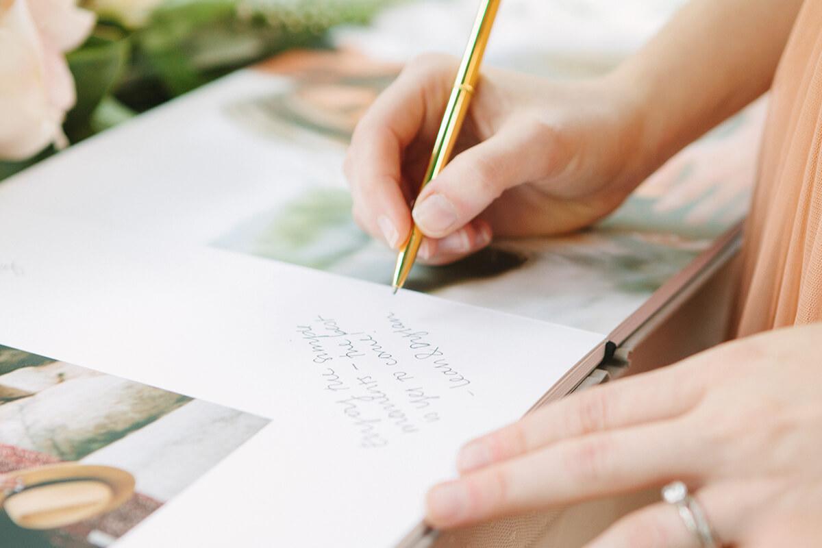 Wedding guest book pen