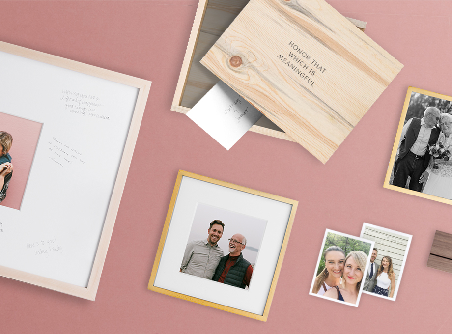 photo display ideas for wedding