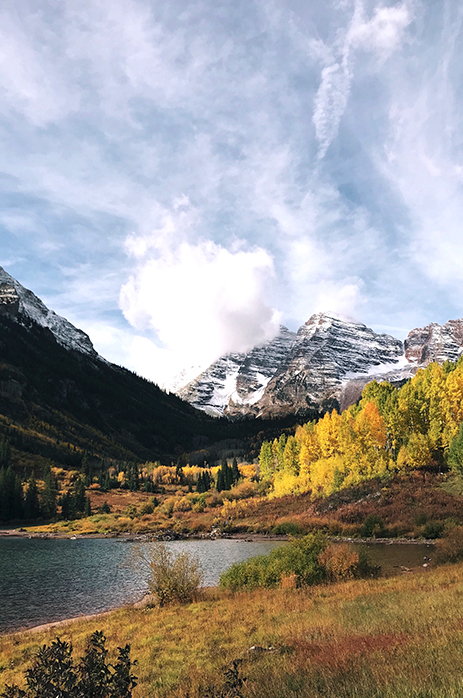 Edited photo of the fall mountain scene pictured in the prior gif