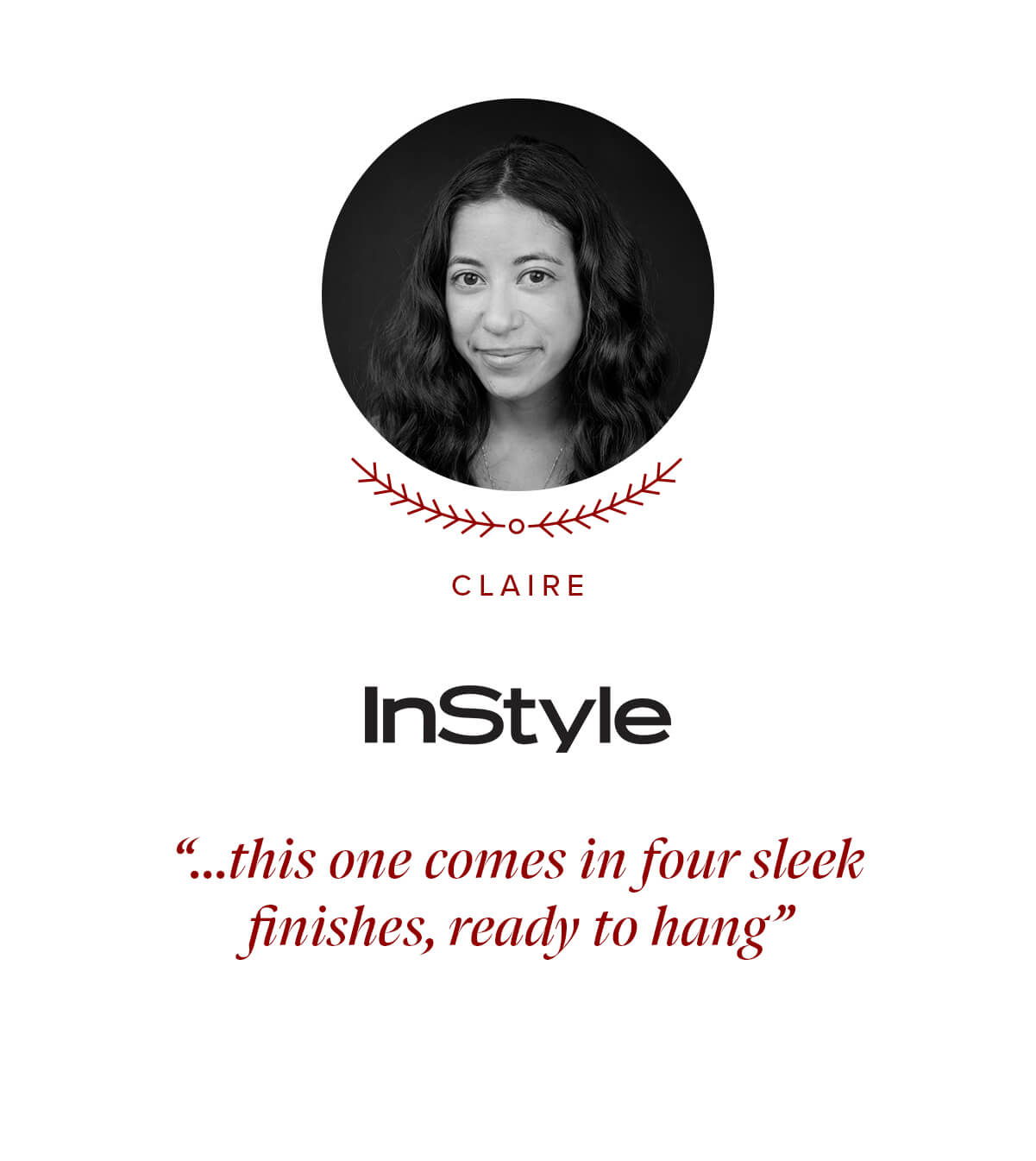 Instyle press quote by Claire Stern