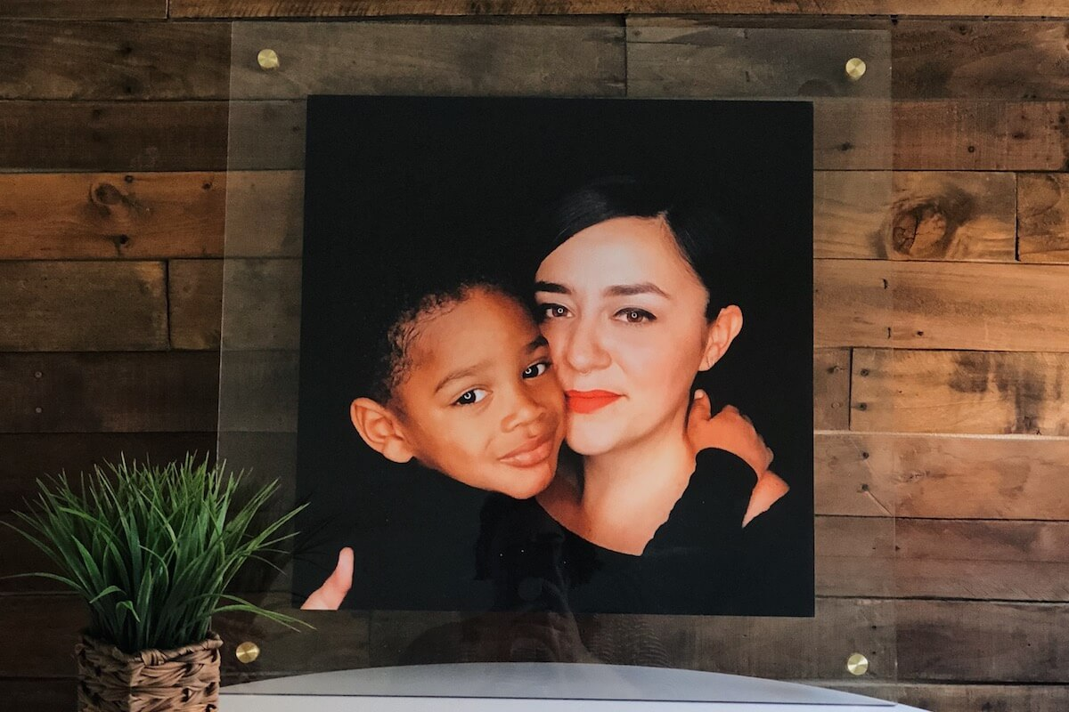 family photo float frame