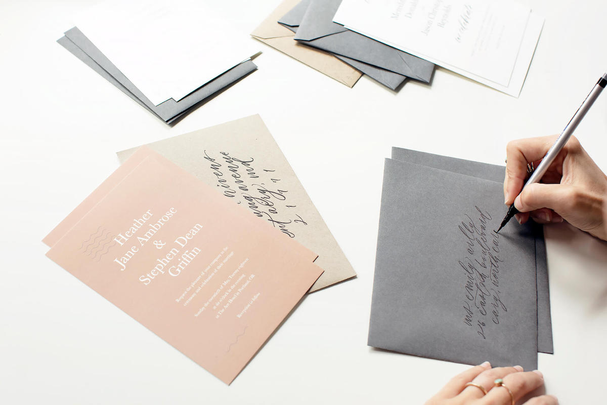 intro to wedding invitation calligraphy artifact uprising
