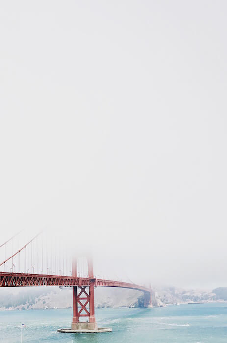 Edited photo of bridge shrouded in fog from previous gif