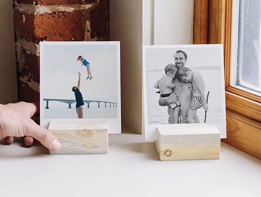 Calendar Wood Stand : Unique wedding photo guest book artifact uprising