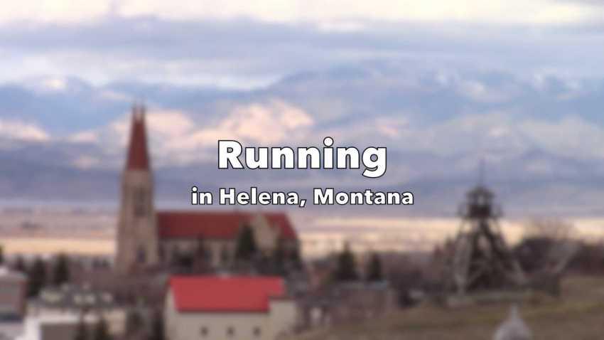 Running in Helena, Montana