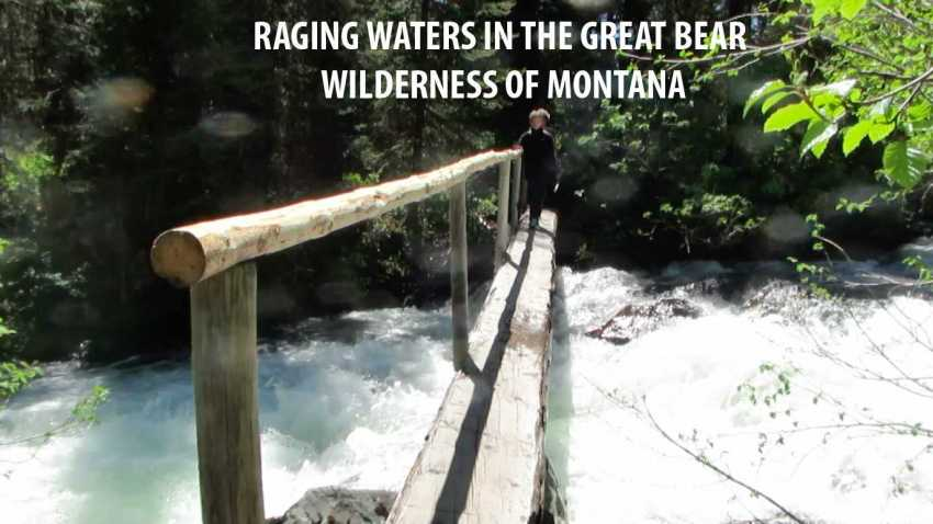 Raging Water in the Great Bear Wilderness of Montana
