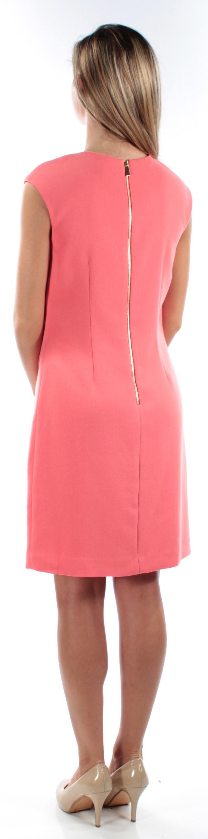 b14c1344d16e VINCE CAMUTO $168 Womens 1160 Coral Cap Sleeve Shift Party Dress 10 ...