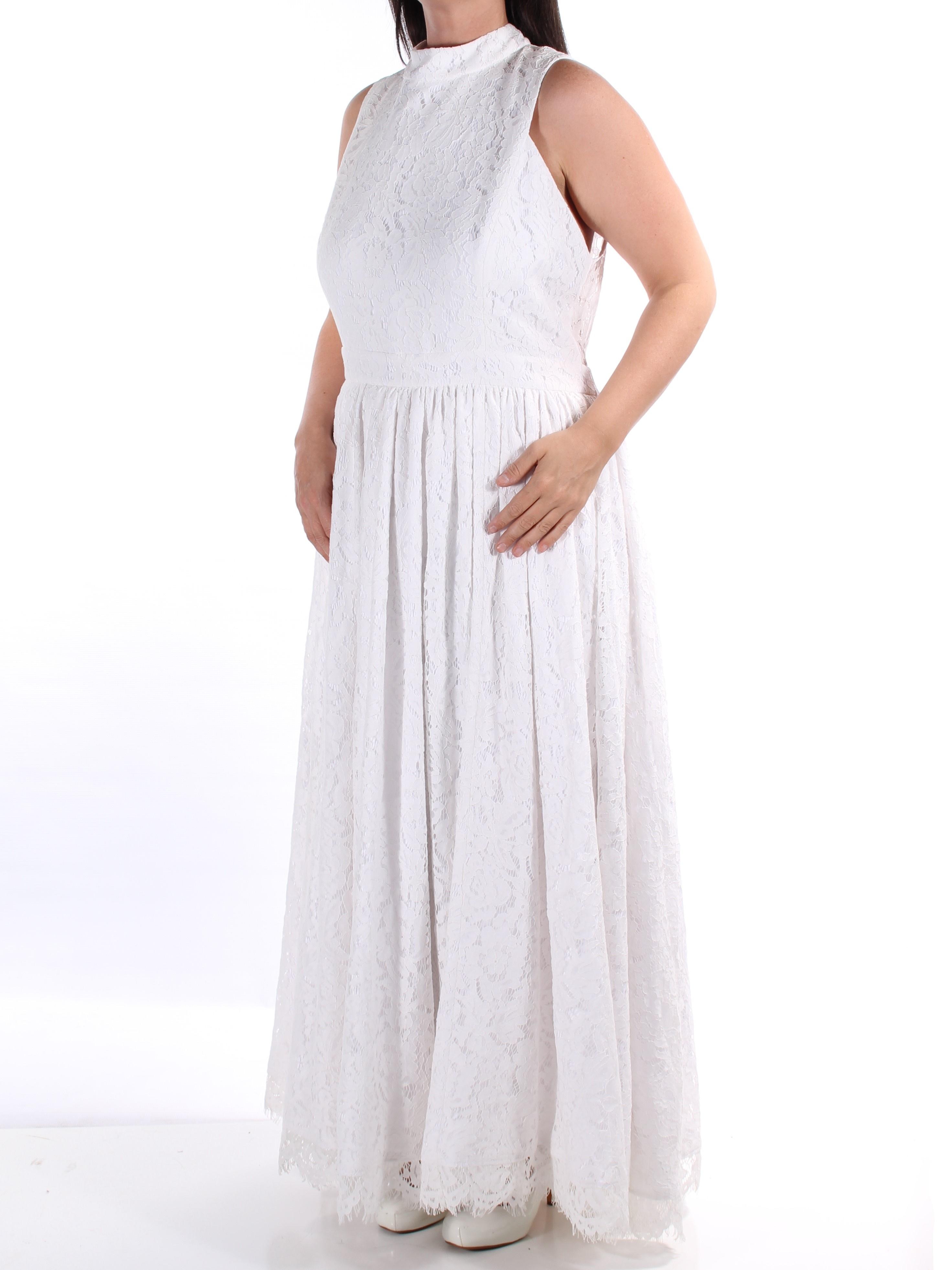 FAME AND PARTNERS  Womens New 1485 White Maxi Empire Waist Dress 18 B+B