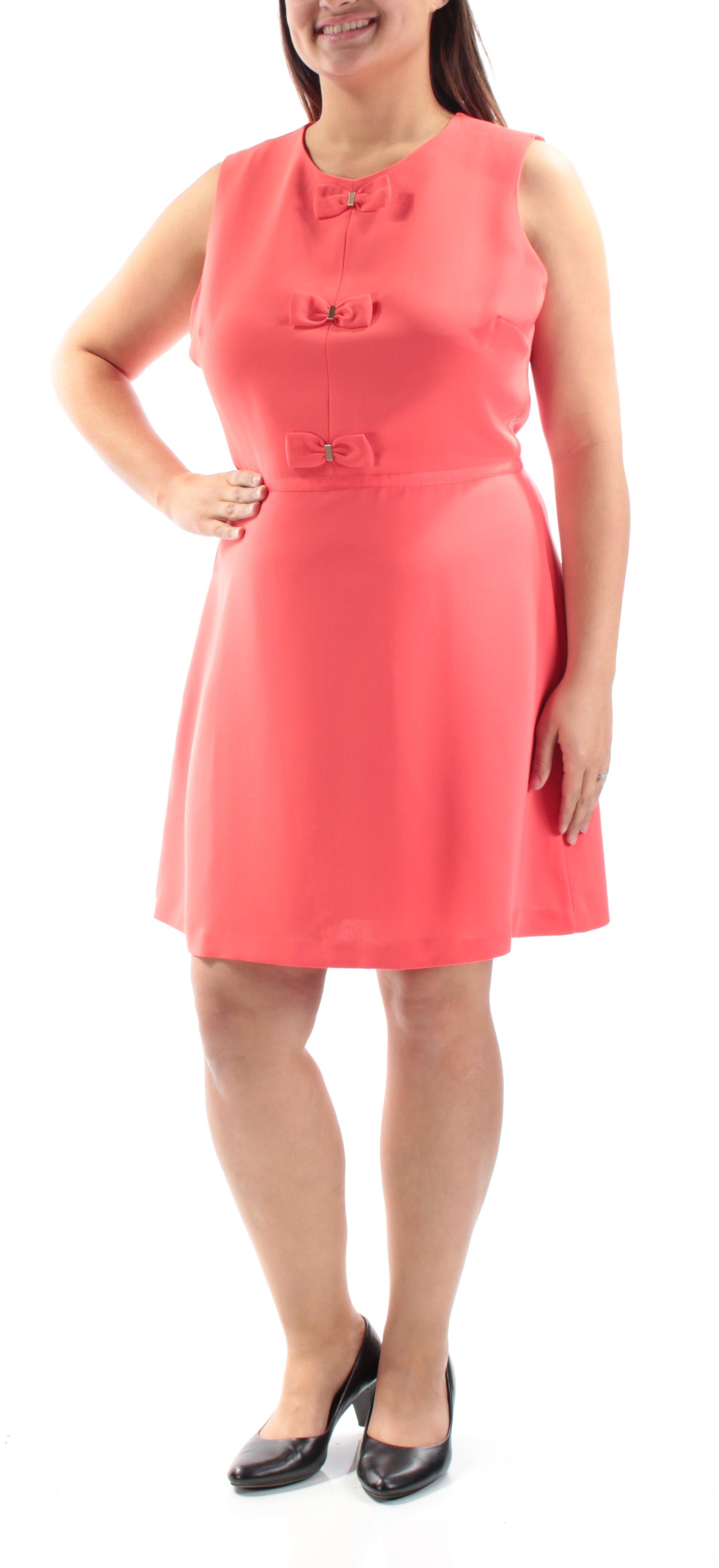 46c662a88d MAISON JULES $80 Womens New 1089 Red Above The Knee Dress XL B+B ...