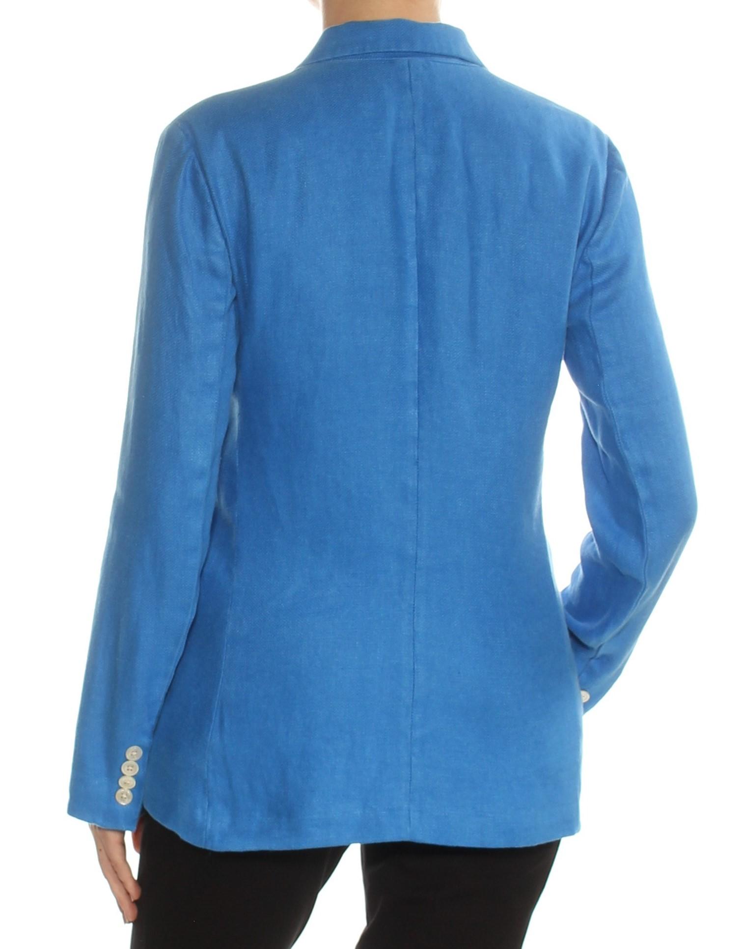 25b4e29cab38b RALPH LAUREN  298 Womens New 1784 Blue Collared Long Sleeve Button ...
