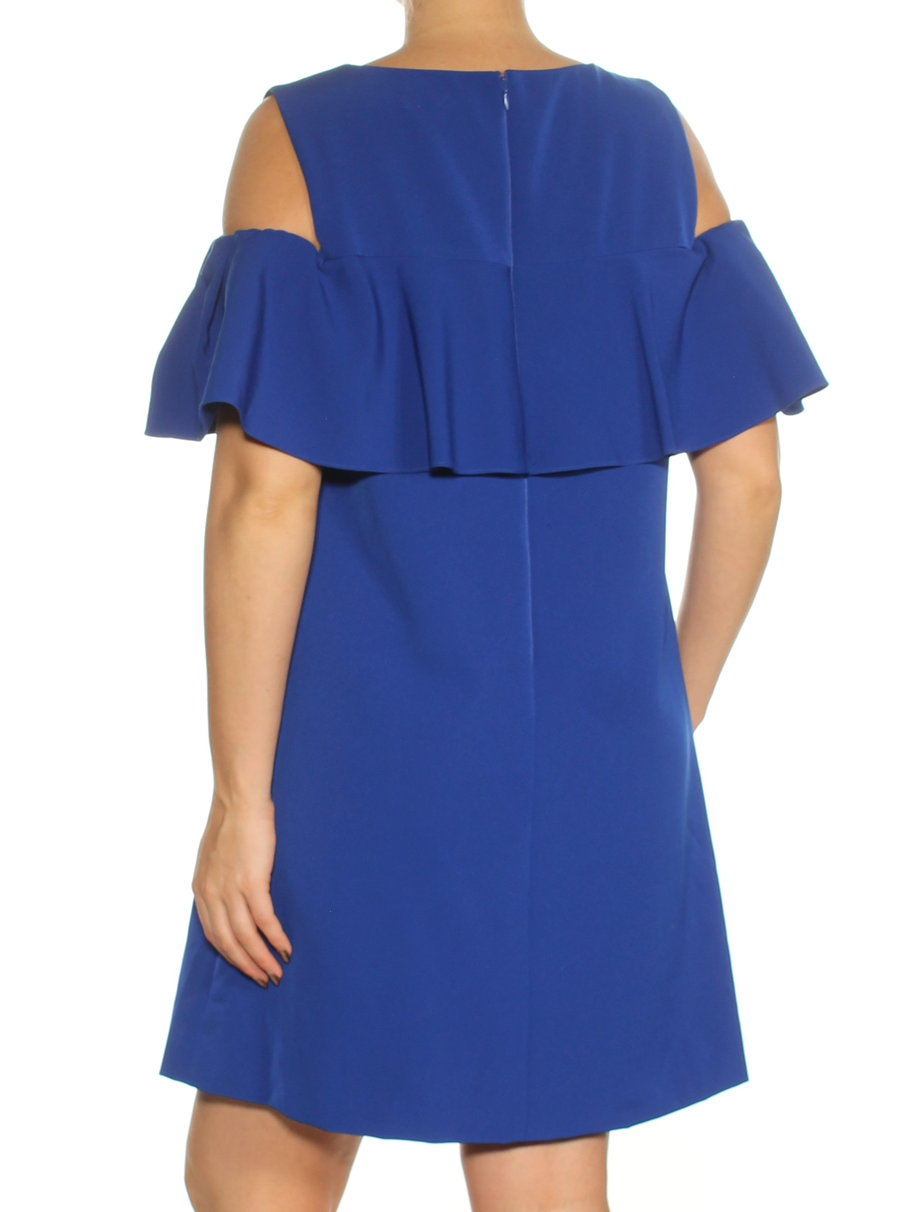 8f9cea8d775e84 TAHARI  162 Womens New 1416 Blue Cold Shoulder Ruffled Shift Dress 12 B+B.  gallery image gallery image. TAHARI GUARANTEED AUTHENTIC!