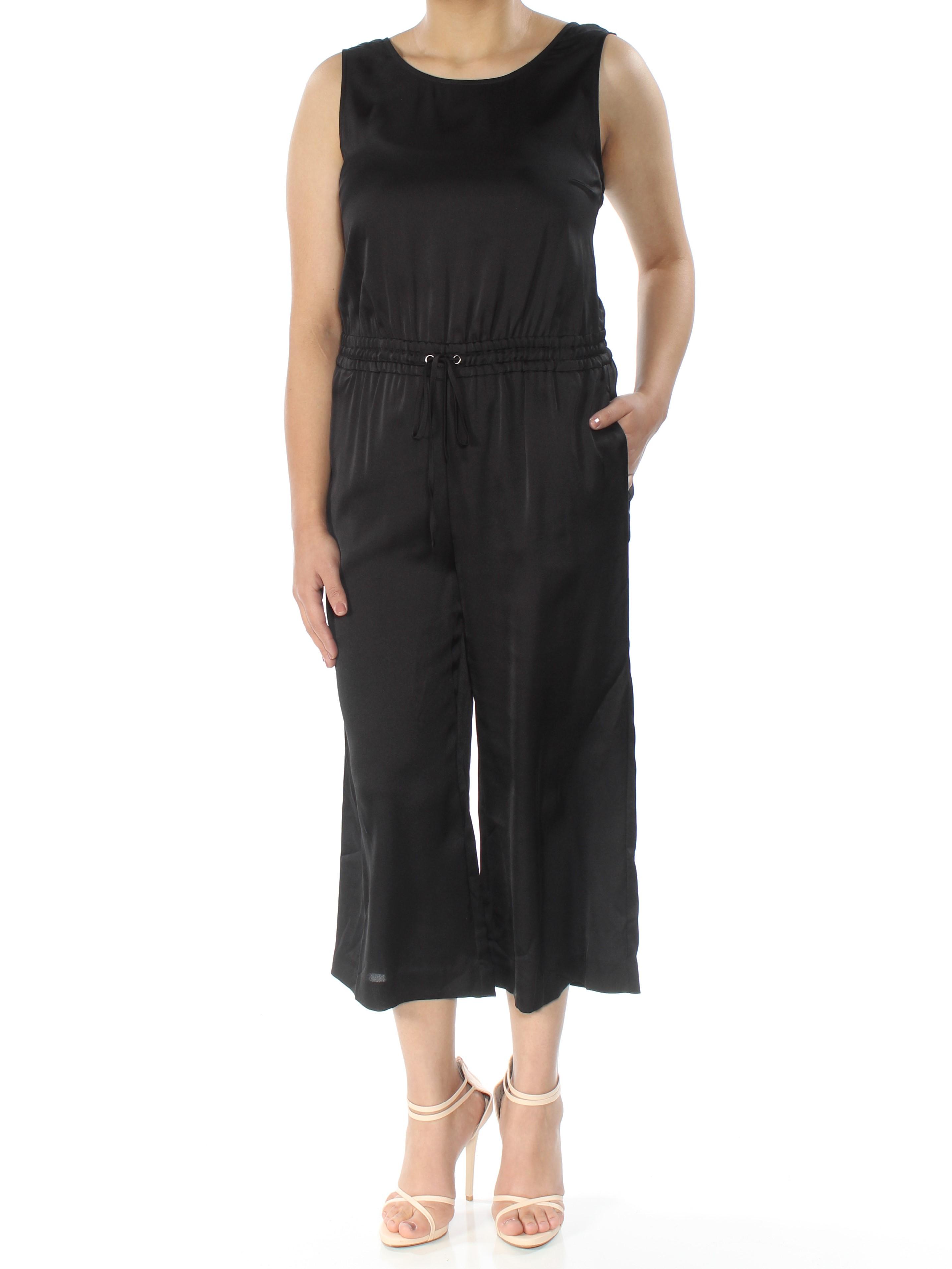 aedb168274e4 Details about RACHEL ROY  139 Womens New 1384 Black Low Back Tie Capri Wide  Leg Jumpsuit S B+B