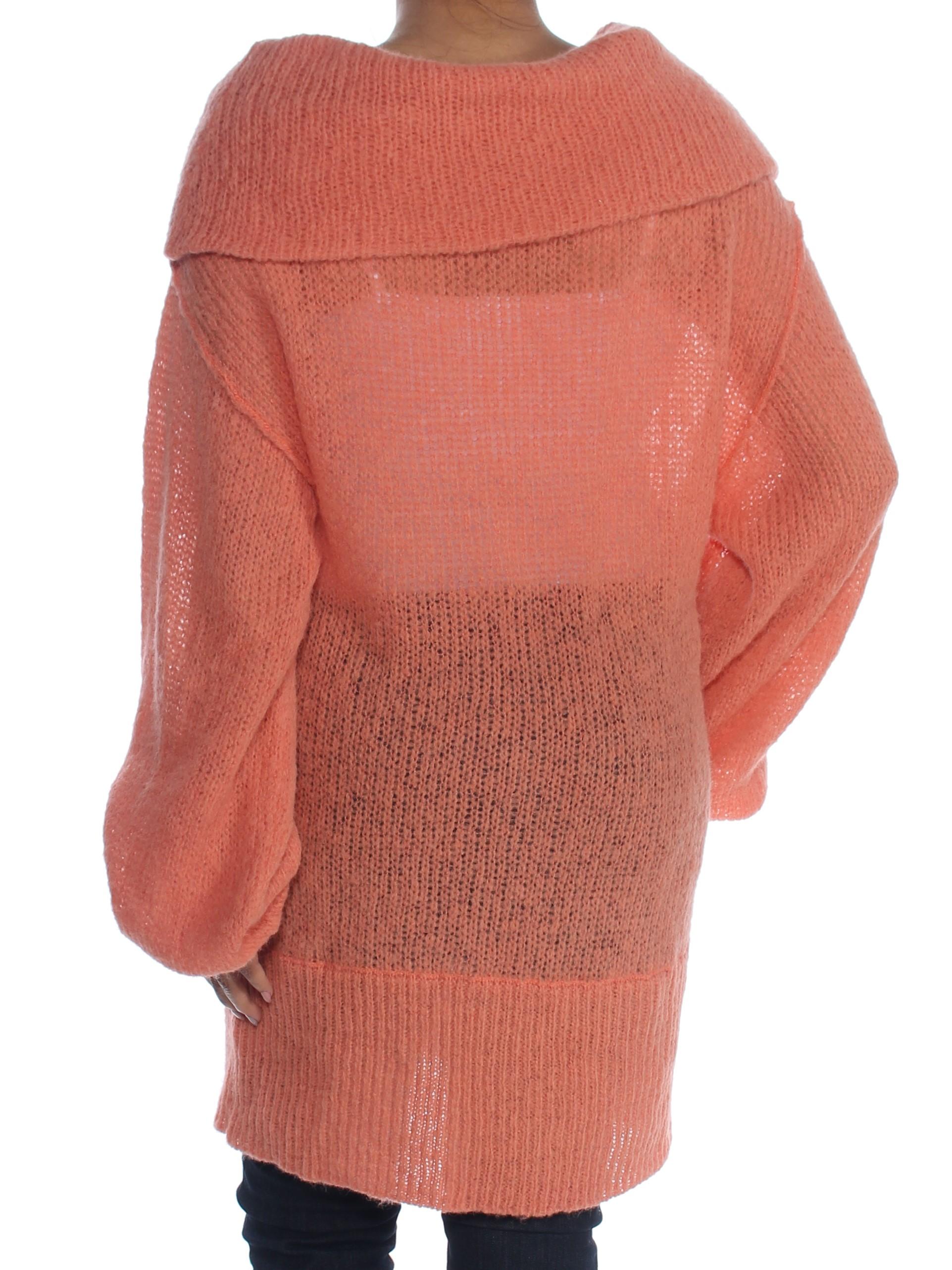 c81c5761640c FREE PEOPLE  148 Womens New 1346 Orange Long Sleeve Cowl Neck ...