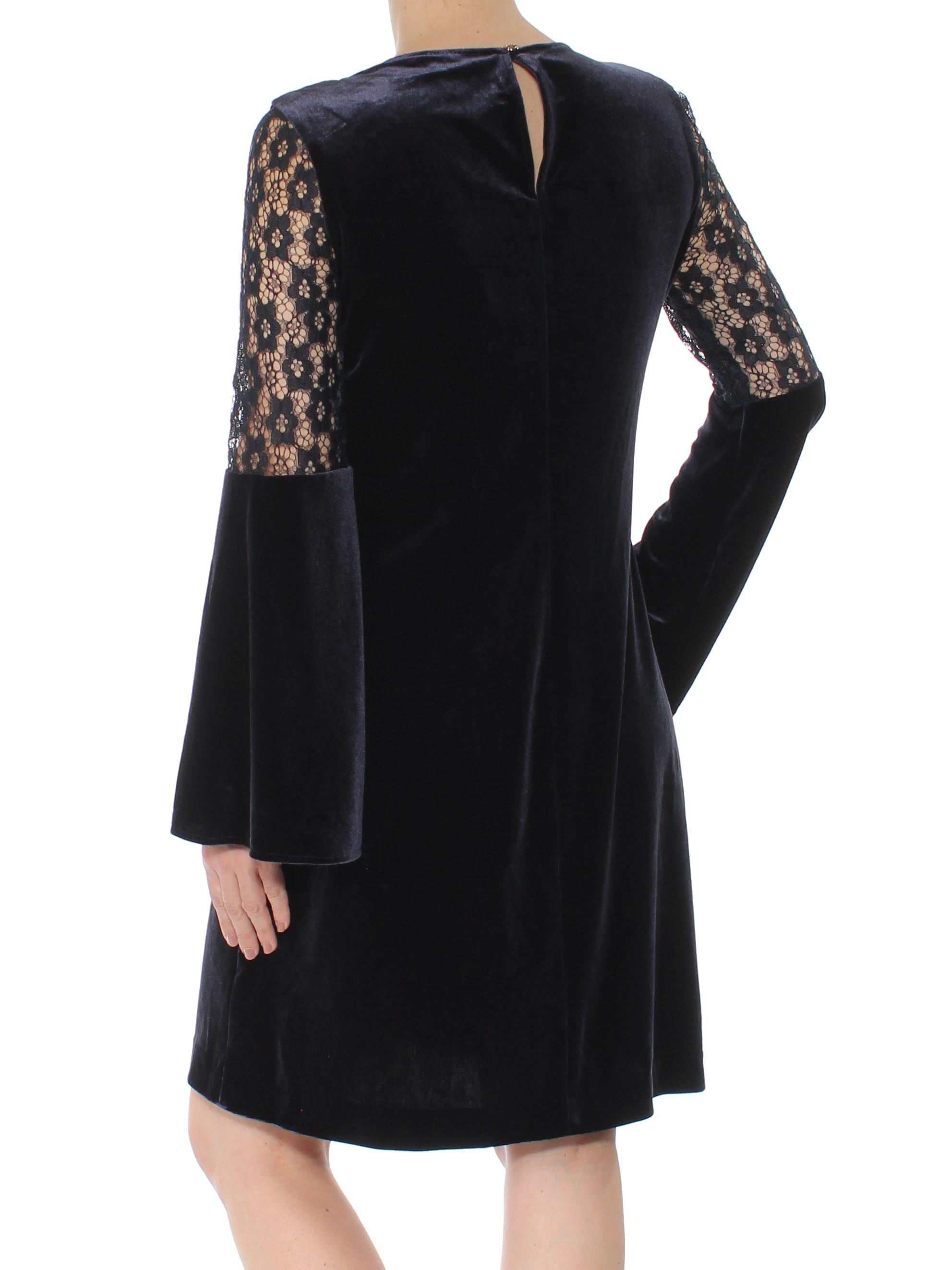 0a3915aee9d TOMMY HILFIGER $129 Womens New 1197 Navy Velvet Crochet Lace Shift Dress 2  B+B. gallery image gallery image. TOMMY HILFIGER GUARANTEED AUTHENTIC!