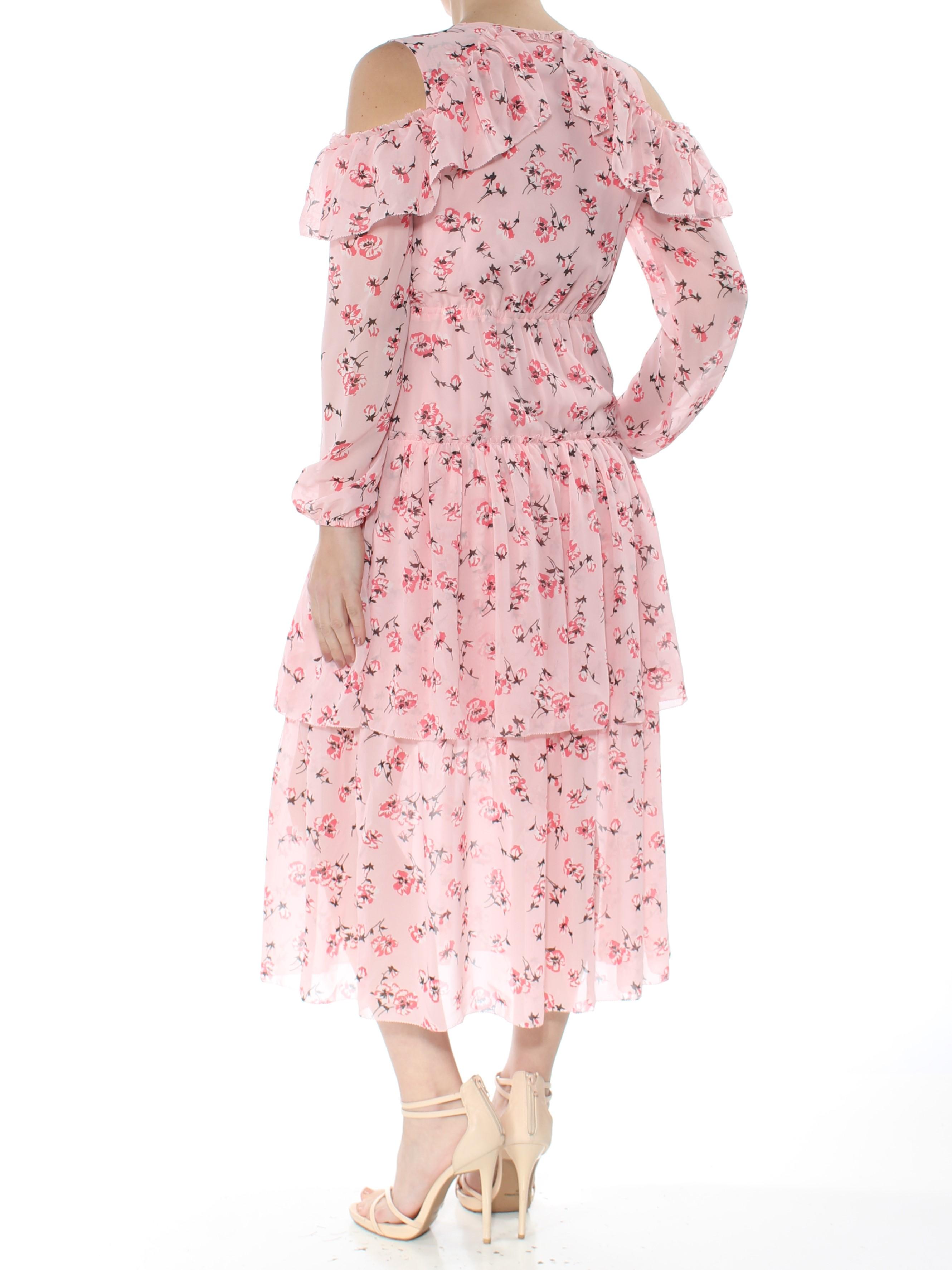 568e7b34b3 MAISON JULES  99 Womens New 1287 Pink Floral Print Cold Shoulder ...