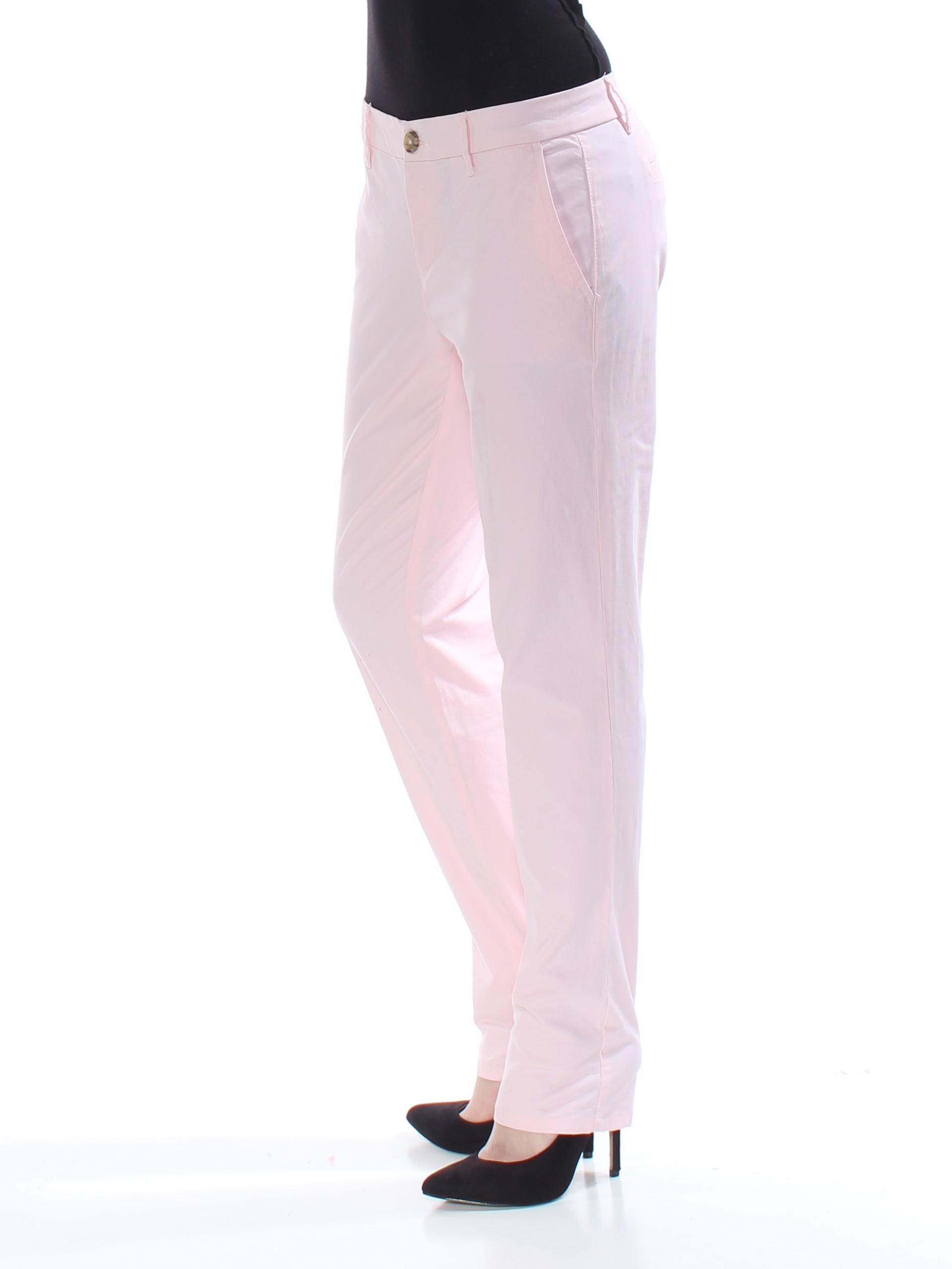 bc8315df TOMMY HILFIGER $60 Womens New 1390 Pink Chino Casual Pants 2 B+B ...