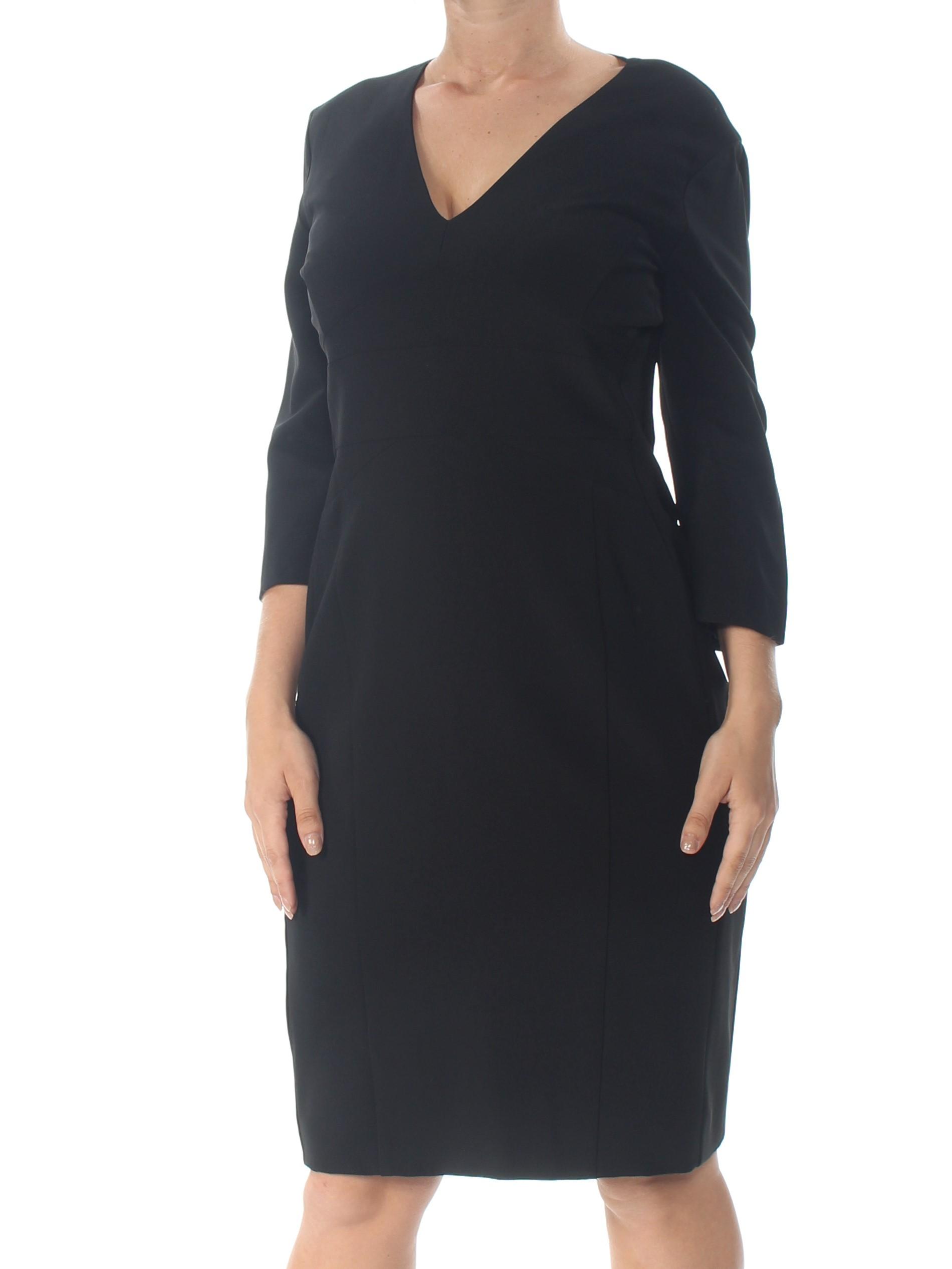 NARCISO RODRIGUEZ  1895  para Mujer Nuevo 1053 Negro Vestido Manga Larga Shift 8 B + B  mejor marca