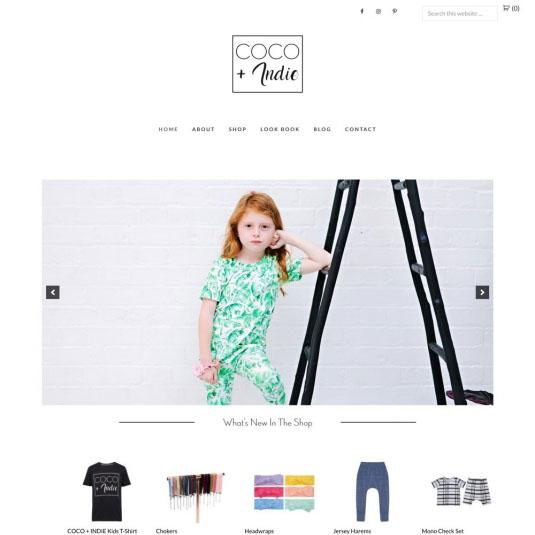 Coco-Indie Website Design
