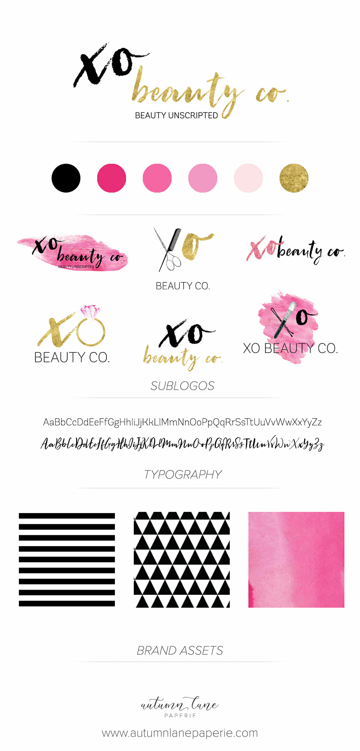 XO Beauty Brand Board