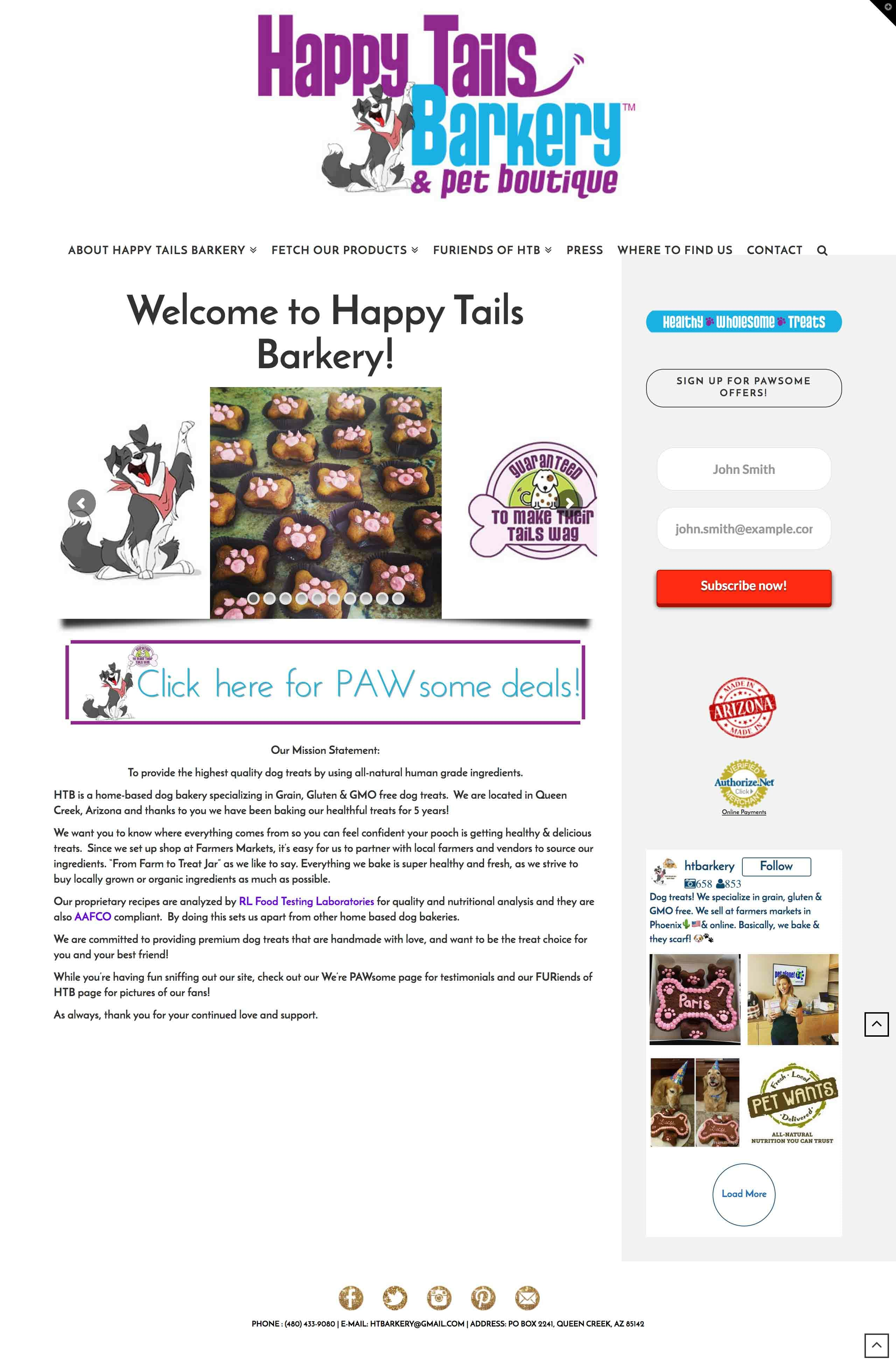 Happy Tails Barkery Dog Treats