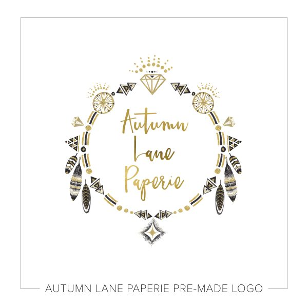 Gray & Gold Boho Circle Logo J13