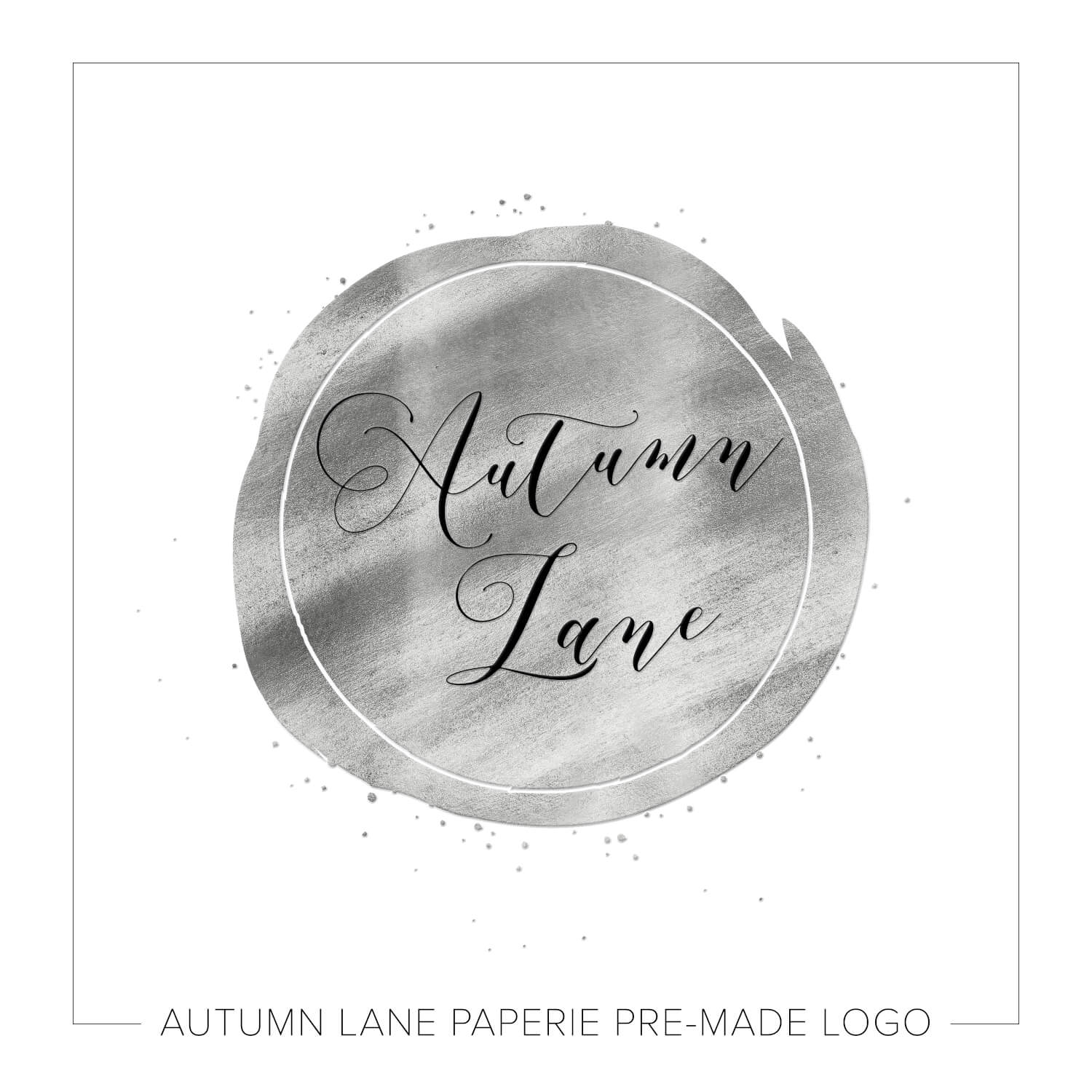 Splattered Silver Circle Logo J38