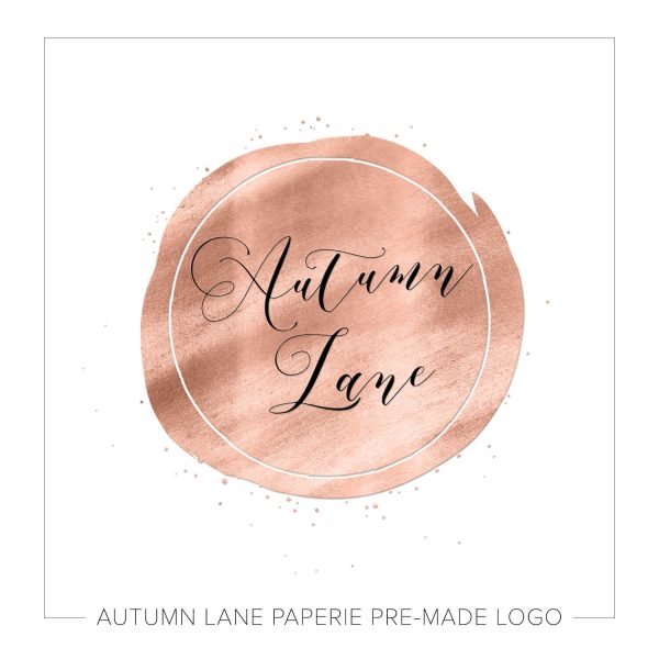 Splashed Rose Gold Circle Logo J39