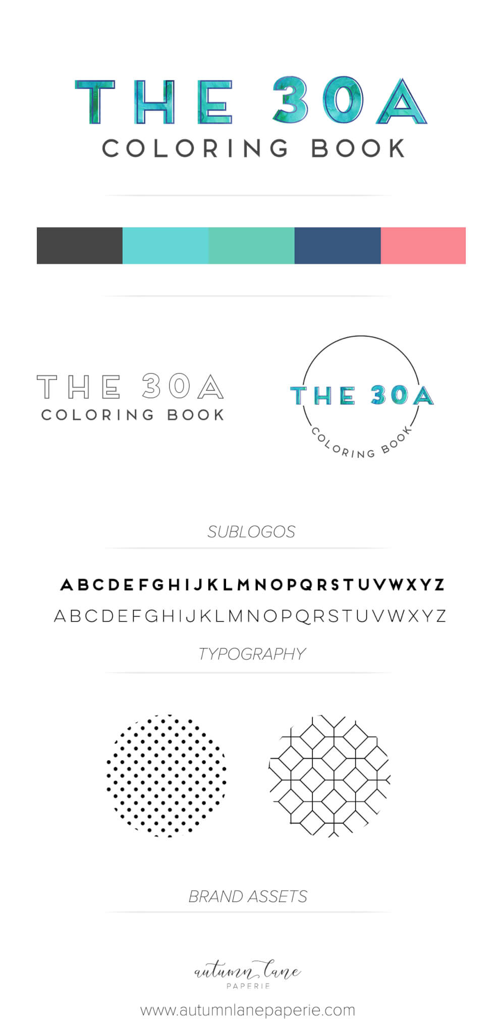 The 30A Coloring Book Brandboard