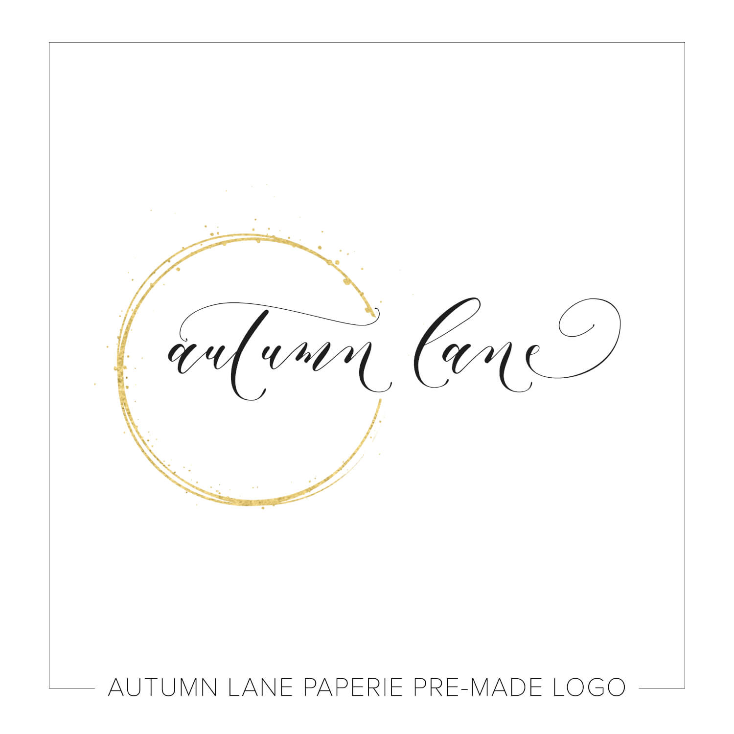 Pretty Gold Semicircle Swirls Logo J66