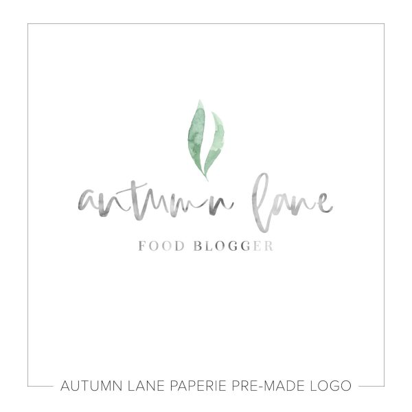 Pale Minimalist Watercolor Leaf Logo J69