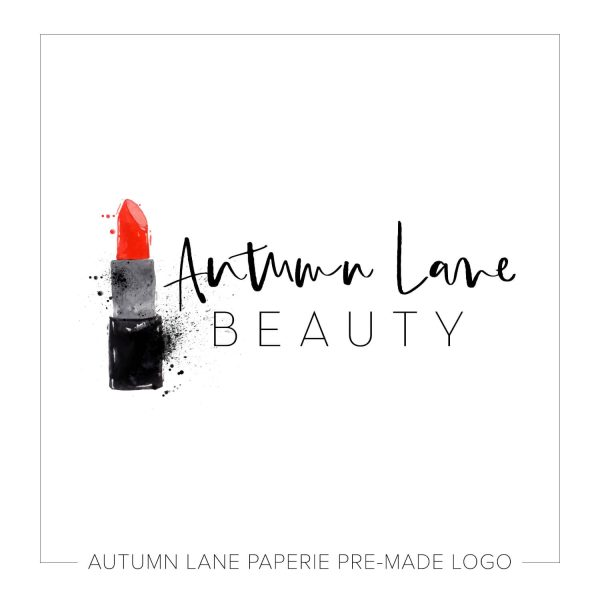 Splattered Watercolor Lipstick Logo J77