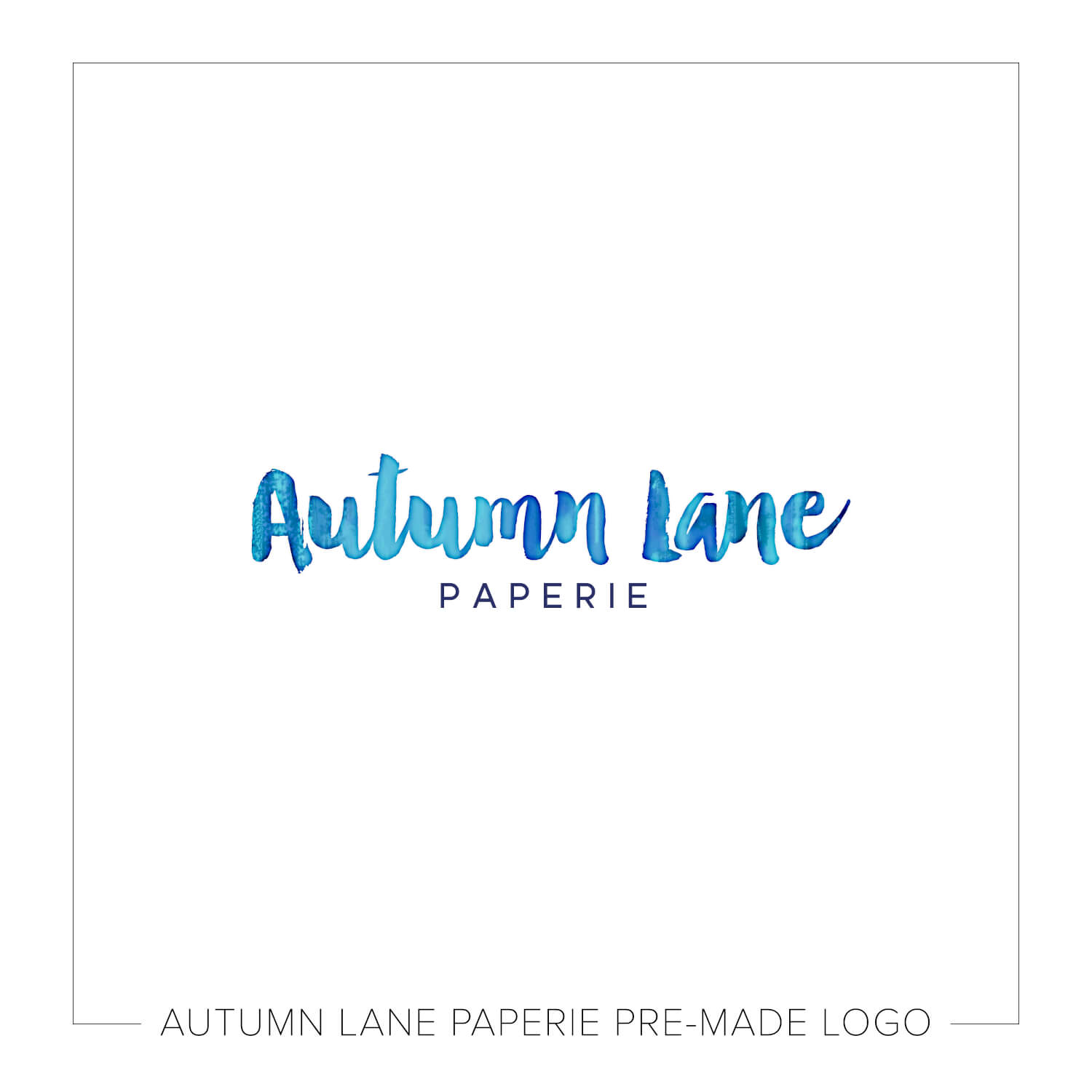 Plain Deep Blue Watercolor Text Logo J80
