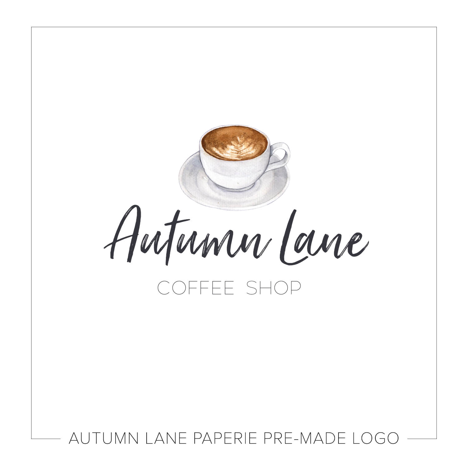 Tiny Coffee Cup Watercolor Logo J82