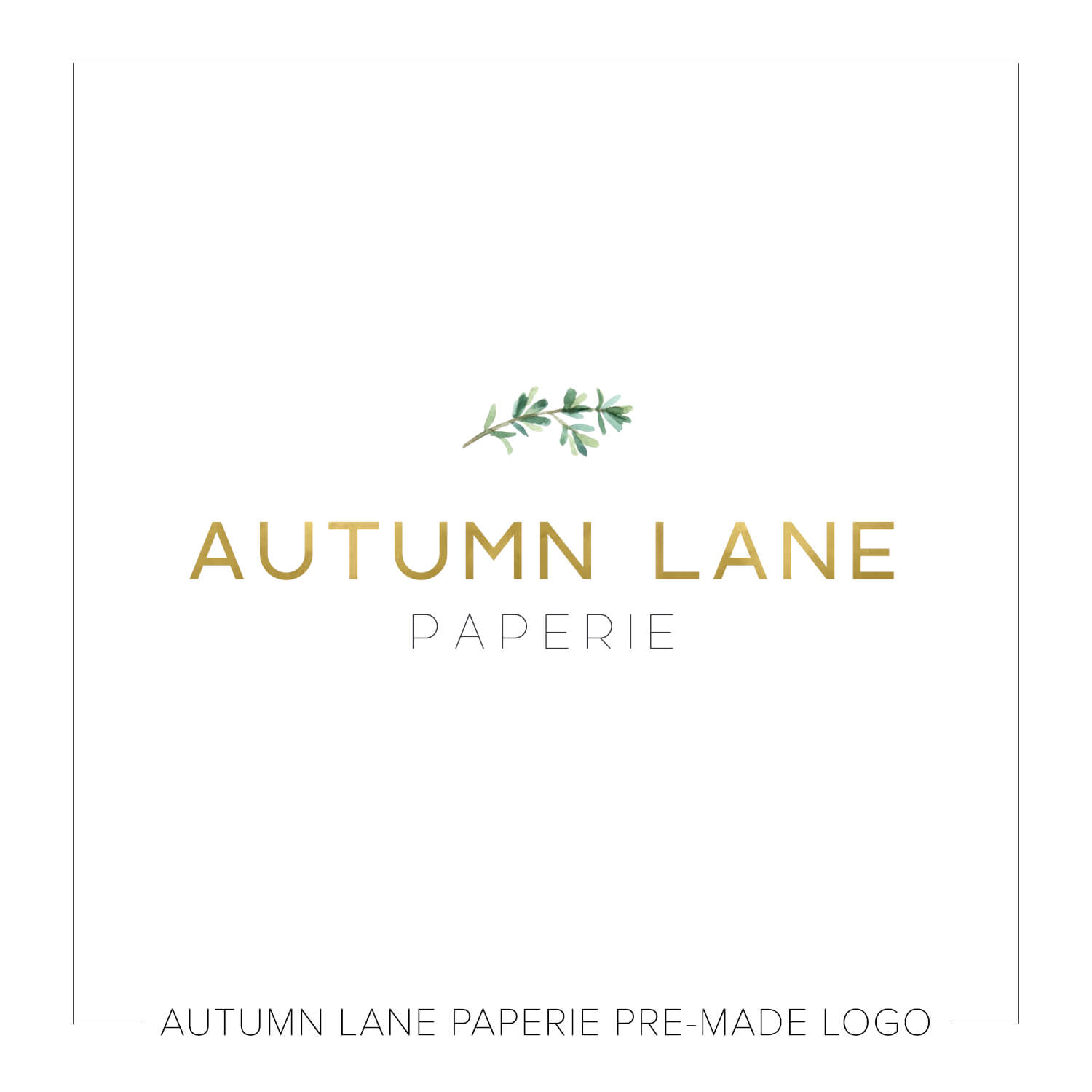 Simple Green & Gold Leaf Logo J88