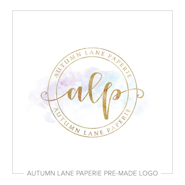 Whimsical Pale Initials Circle Logo K13