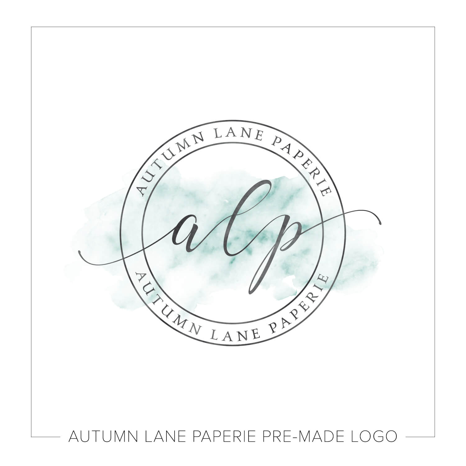 Leaning Initials Soft Watercolor Logo K11