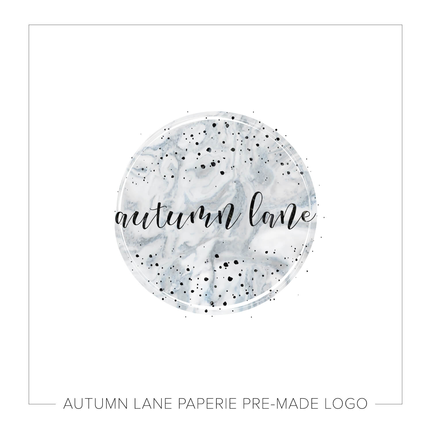 Pale Marbled Circle & Dots Logo K09