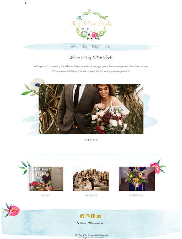 Twig & Vine Florals Website