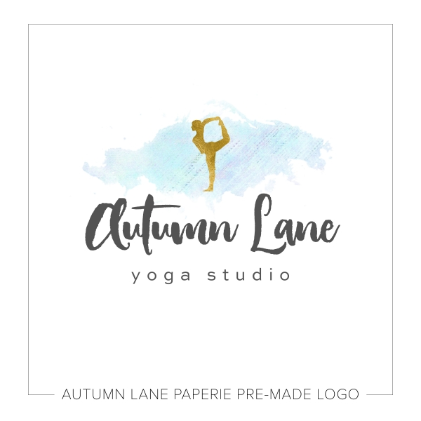 Blue & Gold Yoga Logo K57